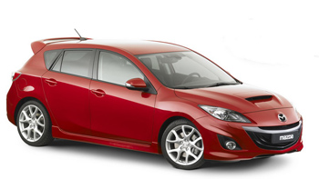 08 Mazda3 Mazdaspeed3 5d Gv Style Spoiler Carbon Fiber